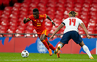8th Occtober 2020, Wembley Stadium, London, England;  Wales Rabbi Matondo beats Englands Reece James during a friendly match between England and Wales in London