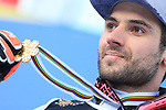 FIS Alpine World Ski Championships 2021 Cortina - Coronavirus Outbreak. Cortina d'Ampezzo, Italy on February 16, 2021. Parallel Event, Mathieu Faivre (FRA) with his gold medal