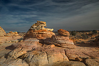 Unusual sandstone rock formations are the predominate feature at South Coyote Buttes at the Vermilion Cliffs National Monument, Arizona