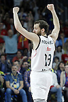 Real Madrid's Sergio Rodriguez celebrates during Euroleague Semifinal match. May 15,2015. (ALTERPHOTOS/Acero)