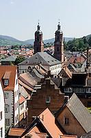 Altstadt mit Jakobskirche, Miltenberg in Unterfranken, Bayern, Deutschland