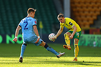 9th January 2021; Carrow Road, Norwich, Norfolk, England, English FA Cup Football, Norwich versus Coventry City; Przemysław Placheta of Norwich City is under pressure from Leo Ostigard of Coventry City
