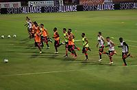 CÚCUTA- COLOMBIA, 26-02-2019:Jugadores del Cúcuta Deportivo ,entrenan antes del encuentro contra el Atlético Huila .Acción de juego entre los equipos Cucuta Deportivo y el Atletico Huila durante partido por la fecha 7 de la Liga Águila I  2019 jugado en el estadio General Santander de la ciudad de Cúcuta . / Cúcuta Deportivo players train before the match against Atlético Huila.Action game between Cucuta Deportivo and Atletico Huila during the match for the date 7 of the Liga Aguila I 2019 played at the General Santander  stadium in Cucuta  city. Photo: VizzorImage / Manuel Hernández  / Contribuidor