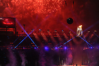 OLYMPIC GAMES: PYEONGCHANG: 09-02-2018, PyeongChang Olympic Stadium, Olympic Games, Opening Ceremony, Olympic Flame, ©photo Martin de Jong