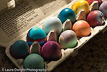 box of hand dyed Easter eggs horizontal