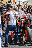 3rd October 2021; Austin, Texas, USA; Team congratulations for Marc Marquez (93) - (SPA) after 1st place finish at the MotoGP Red Bull Grand Prix of the Americas