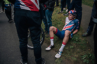 Ethan Hayter (GBR) digged deep to finish strongly<br /> <br /> Racing in/around Lake District National Parc / Cumbria<br /> <br /> Stage 6: Barrow-in-Furness to Whinlatter Pass   (168km)<br /> 15th Ovo Energy Tour of Britain 2018