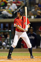 John Murphy (3) of the Charleston RiverDogs at bat against the Greenville Drive at Joseph P. Riley, Jr. Park on May 26, 2014 in Charleston, South Carolina.  The Drive defeated the RiverDogs 11-3.  (Brian Westerholt/Four Seam Images)