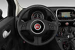 Car pictures of steering wheel view of a 2019 Fiat 500 Pop 3 Door Hatchback Steering Wheel