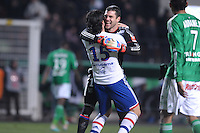 Remy Vercoutre et Milan Bisevac (lyon) .Football Calcio 2012/2013.Ligue 1 Francia.Foto Panoramic / Insidefoto .ITALY ONLY