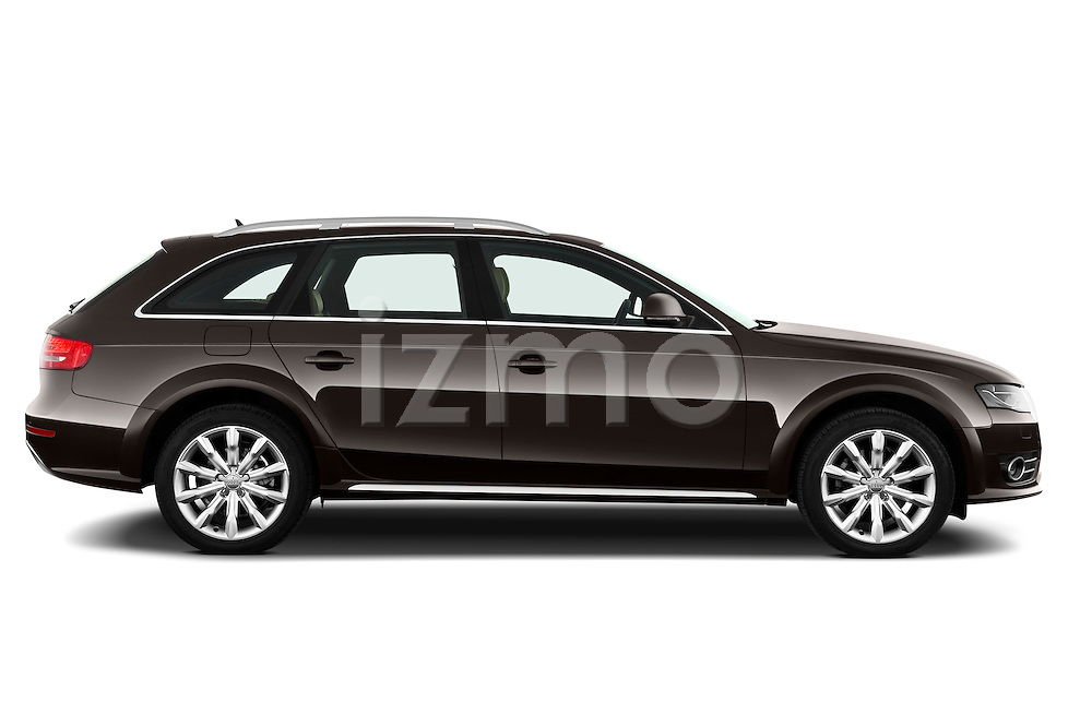 Passenger side profile view of a 2011 Audi A4 Allroad Quattro 2.0l TDI 5 Door Wagon