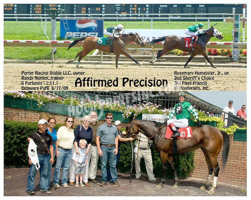 Affirmed Precision winning at Delaware Park on 8/17/09