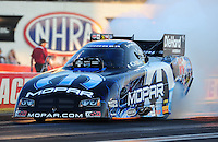 Sept. 2, 2011; Claremont, IN, USA: NHRA funny car driver Matt Hagan during qualifying for the US Nationals at Lucas Oil Raceway. Mandatory Credit: Mark J. Rebilas-