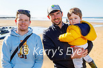 Enjoying a stroll on the beach in Ballybunion on Sunday, l to r: Brian Sheehy, Matthew and Freddie McCarthy.