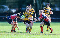 Saturday 4th February 2017 | RBAI vs BALLYCLARE HIGH SCHOOL<br /> <br /> Rhys O'Donnell during the Ulster Schools' Cup clash between RBAI and Ballyclare High School at  Cranmore Park, Belfast, Northern Ireland.<br /> <br /> Photograph by www.dicksondigital.com