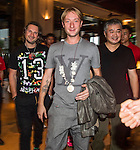 Evgeni Viktorovich Plushenko arrives at the Mission Hills Celebrity Pro-Am on 23 October 2014, in Haikou, China. Photo by Aitor Alcalde / Power Sport Images