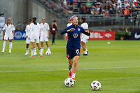 EAST HARTFORD, CT - JULY 1: Megan Rapinoe #15 of the United States before a game between Mexico and USWNT at Rentschler Field on July 1, 2021 in East Hartford, Connecticut.