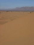 Sand dunes on the edge of the Sahara Desert near Tamegroute in Morocco.