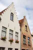 Europe/Belgique/Flandre/Flandre Occidentale/Bruges: Centre historique classé Patrimoine Mondial de l'UNESCO,  Maisons à pignon