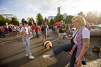 NASHVILLE, TN - SEPTEMBER 5: USA Fans hang out at an American Outlaws tailgate before a game between Canada and USMNT at Nissan Stadium on September 5, 2021 in Nashville, Tennessee.