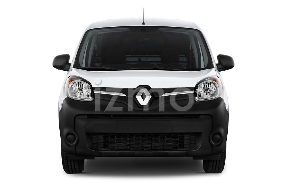 Car photography straight front view of a 2018 Renault Kangoo ZE Maxi ZE 2 places 4 Door Car van