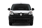 Car photography straight front view of a 2018 Renault Kangoo ZE Maxi ZE 2 places 4 Door Car van