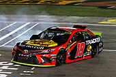 #19: Martin Truex Jr., Joe Gibbs Racing, Toyota Camry Bass Pro Shops celebrates his win with a burnout