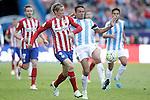 Atletico de Madrid's Fernando Torres (l) and Malaga CF's Weligton Robson during La Liga match. April 23,2016. (ALTERPHOTOS/Acero)