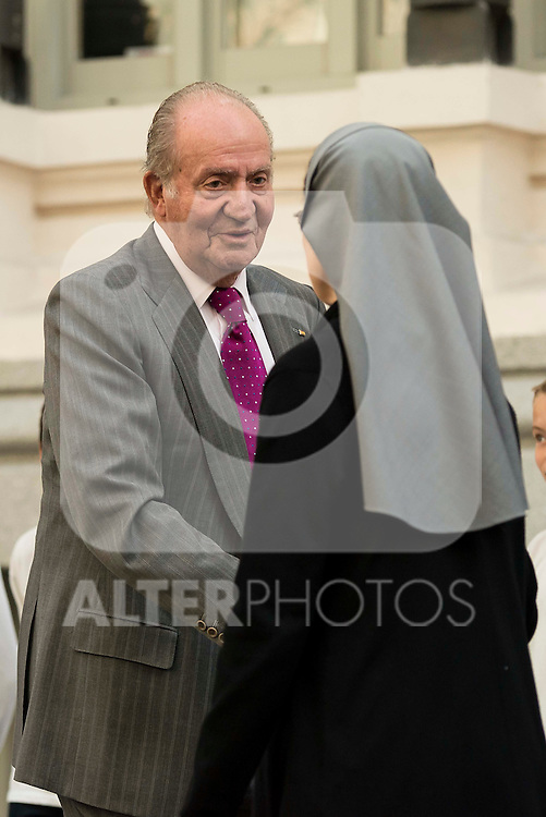 King Juan Carlos during the main event of COTEC at Crystal Gallery of the Cibeles Palace in Madrid, Spain, November 23, 2015. <br /> (ALTERPHOTOS/BorjaB.Hojas)