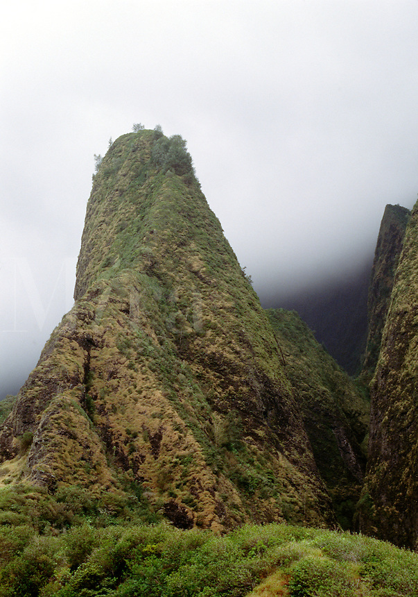 The IAO NEEDLE rises more than 1200 feet above the IAO VALLEY - MAUI, HAWAII