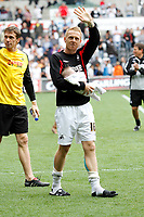 Npower Championship, Swansea City FC (white) V Sheffield United. Sat 7th May 2011 (12.45pm KO)<br /> The Swans celebrate reaching the playoffs with a lap arond the ground<br /> Pictured: Gary Monk<br /> Picture by: Ben Wyeth / Athena Picture Agency<br /> info@athena-pictures.com<br /> 07815 441513