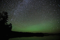 """Airglow over Crooked Lake""<br />