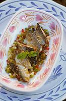 Europe/France/Bretagne/29/Finistère/Pont-Aven: Moulin de Rosmadec - Marinière de sardines vinaigrette de condiments