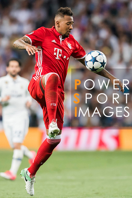 Kingsley Coman of FC Bayern Munich in action during their 2016-17 UEFA Champions League Quarter-finals second leg match between Real Madrid and FC Bayern Munich at the Estadio Santiago Bernabeu on 18 April 2017 in Madrid, Spain. Photo by Diego Gonzalez Souto / Power Sport Images