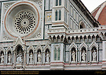 Rose Window and Statues of Mary and Apostles 19th c Facade Santa Maria del Fiore Florence