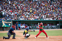 15 February 2009: Alfredo Despaigne of the Orientales is seen at bat during a training game of Cuba Baseball Team for the World Baseball Classic 2009. The national team is pitted against itself, divided in two teams called the Occidentales and the Orientales. The Orientales win 12-8, at the Latinoamericano stadium, in la Habana, Cuba.