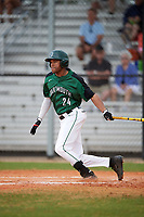 Dartmouth Big Green right fielder Mike Brown (24) at bat during a game against the Southern Maine Huskies on March 23, 2017 at Lake Myrtle Park in Auburndale, Florida.  Dartmouth defeated Southern Maine 9-1.  (Mike Janes/Four Seam Images)