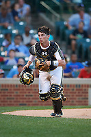 Michael Amditis (2) of Boca Raton Community High School in Boca Raton, Florida during the Under Armour All-American Game on August 15, 2015 at Wrigley Field in Chicago, Illinois. (Mike Janes/Four Seam Images)
