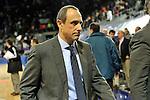 MADRID, Spain (22/01/11). Liga ACB de baloncesto, jornada 18, Real Madrid vs Asefa Estudiantes. Caja Magica...Ettore Messina...©Raul Perez .