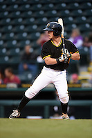 Bradenton Marauders outfielder Jeff Roy (2) during a game against the Jupiter Hammerheads on April 19, 2014 at McKechnie Field in Bradenton, Florida.  Bradenton defeated Jupiter 4-0.  (Mike Janes/Four Seam Images)