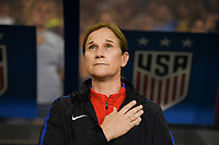 Cincinnati, OH - Tuesday September 19, 2017: Jill Ellis during an International friendly match between the women's National teams of the United States (USA) and New Zealand (NZL) at Nippert Stadium.