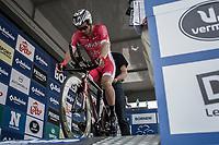 Later winner Christophe Laporte (FRA/Cofidis) start ready.<br /> <br /> Baloise Belgium Tour 2018<br /> Stage 3: ITT Bornem - Bornem (10.6km)