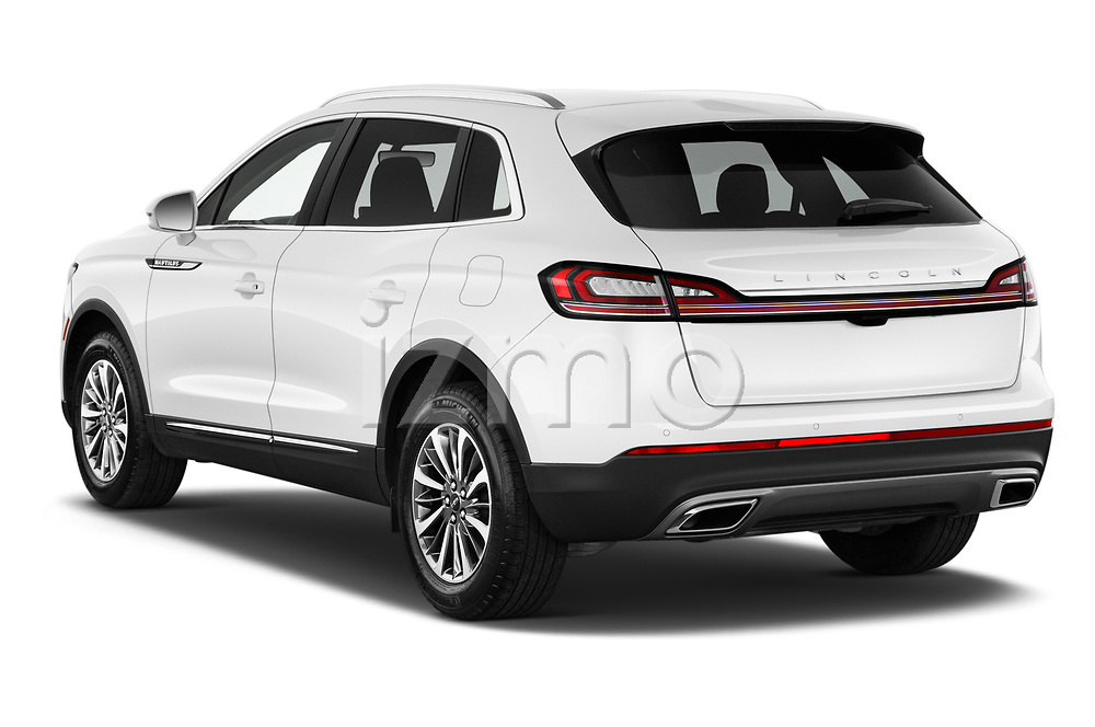 Car pictures of rear three quarter view of 2021 Lincoln Nautilus Standard 5 Door SUV Angular Rear
