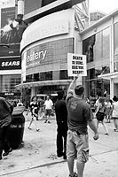 Toronto (ON) CANADA - July 2012 - Jesus freak outside  EATON CENTRE