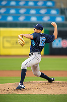 Northwest Arkansas Naturals vs Corpus Christi Hooks<br /> Corpus Christi Hooks pitcher Brandon Bielak (12) delivers a pitch Wednesday, May 1, 2019, at Arvest Ballpark in Springdale, Arkansas. (Jason Ivester/Four Seam Images)