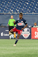 FOXBOROUGH, MA - OCTOBER 09: Maciel #6 of New England Revolution II passes the ball during a game between Fort Lauderdale CF and New England Revolution II at Gillette Stadium on October 09, 2020 in Foxborough, Massachusetts.