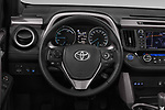 Car pictures of steering wheel view of a 2018 Toyota RAV4 Black edition Hybride 5 Door SUV