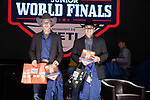 Kaleb Heimburg, Cache Kerby, during the Team Roping Back Number Presentation at the Junior World Finals. Photo by Andy Watson. Written permission must be obtained to use this photo in any manner.