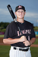 Kannapolis Intimidators first baseman Andrew Vaughn (14) poses for a photo prior to the game against the Lakewood BlueClaws at Kannapolis Intimidators Stadium on July 18, 2019 in Kannapolis, North Carolina. The Intimidators defeated the BlueClaws 7-1. (Brian Westerholt/Four Seam Images)