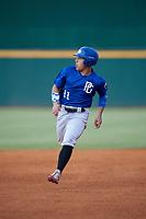 Edgardo Villegas (11) of Carlos Beltran Baseball Academy in Vega Alta, PR during the Perfect Game National Showcase at Hoover Metropolitan Stadium on June 20, 2020 in Hoover, Alabama. (Mike Janes/Four Seam Images)